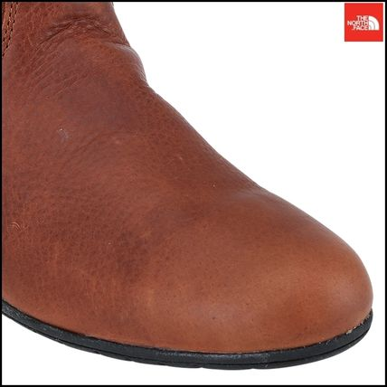 THE NORTH FACE Ankle & Booties Argile Round Toe Street Style Plain Leather Block Heels 13