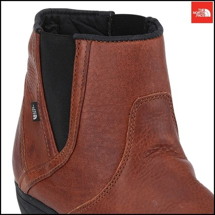THE NORTH FACE Ankle & Booties Argile Round Toe Street Style Plain Leather Block Heels 14