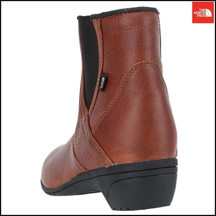 THE NORTH FACE Ankle & Booties Argile Round Toe Street Style Plain Leather Block Heels 16