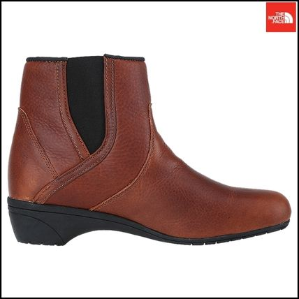 THE NORTH FACE Ankle & Booties Argile Round Toe Street Style Plain Leather Block Heels 17