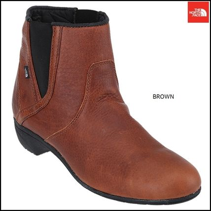 THE NORTH FACE Ankle & Booties Argile Round Toe Street Style Plain Leather Block Heels 2