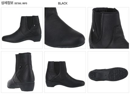 THE NORTH FACE Ankle & Booties Argile Round Toe Street Style Plain Leather Block Heels 3