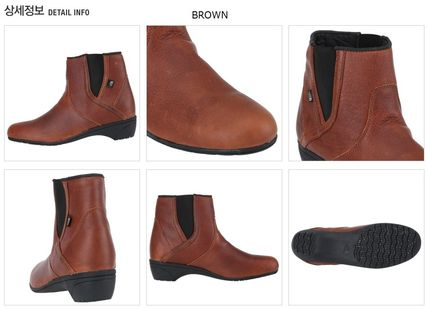 THE NORTH FACE Ankle & Booties Argile Round Toe Street Style Plain Leather Block Heels 4