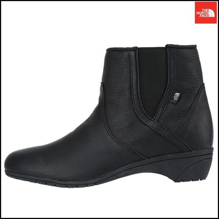 THE NORTH FACE Ankle & Booties Argile Round Toe Street Style Plain Leather Block Heels 5