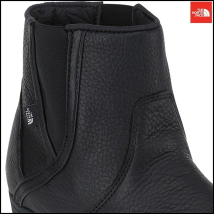 THE NORTH FACE Ankle & Booties Argile Round Toe Street Style Plain Leather Block Heels 7