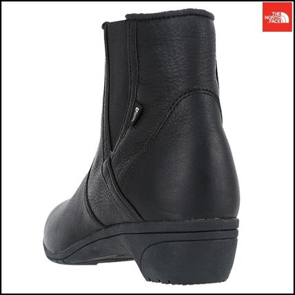 THE NORTH FACE Ankle & Booties Argile Round Toe Street Style Plain Leather Block Heels 8