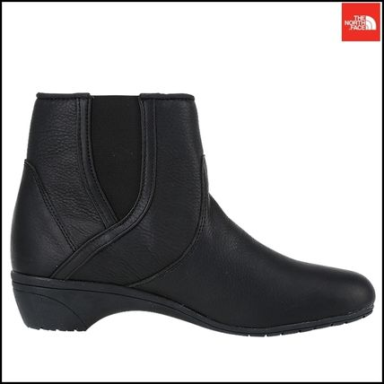 THE NORTH FACE Ankle & Booties Argile Round Toe Street Style Plain Leather Block Heels 9