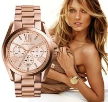 Michael Kors Round Quartz Watches Stainless Elegant Style Analog Watches