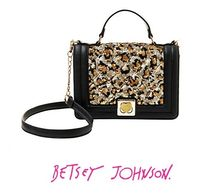 Betsey Johnson Heart Leopard Patterns Party Style Shoulder Bags