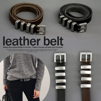 NANING9 Street Style Leather Korean Brand Belts