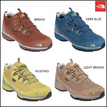 THE NORTH FACE Dots Platform Moccasin Round Toe Street Style Plain Leather