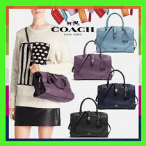 Coach MERCER 2WAY Plain Leather Office Style Handbags