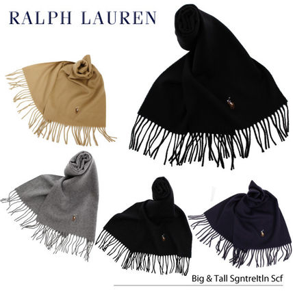 POLO RALPH LAUREN Unisex Wool Plain Scarves