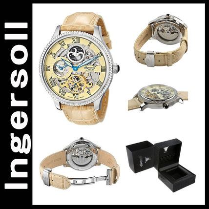 Street Style Leather Round Analog Watches