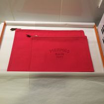 HERMES Yachting Canvas Long Wallets