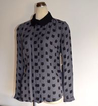 Milly Silk Long Sleeves Other Animal Patterns Shirts & Blouses