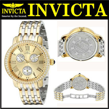 Street Style Round Quartz Watches 18K Gold Analog Watches