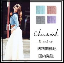 Chicwish Maxi Plain Long Party Style Maxi Skirts