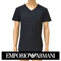EMPORIO ARMANI V-Neck Cotton Short Sleeves V-Neck T-Shirts