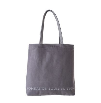 Fondation Louis Vuitton Fondation Louis Vuitton Canvas Tote Bag (White/Grey)