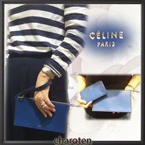 CELINE Ring Unisex Calfskin 2WAY Bi-color Plain Clutches