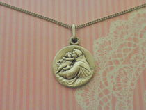 Paris Medaille Miraculeuse Unisex Coin Necklaces & Pendants