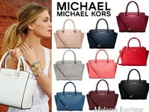 Michael Kors SELMA Saffiano 2WAY Plain Handbags