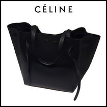 CELINE Cabas Phantom A4 Leather Party Style Totes