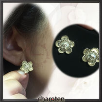 CHANEL ICON Costume Jewelry Blended Fabrics Earrings & Piercings