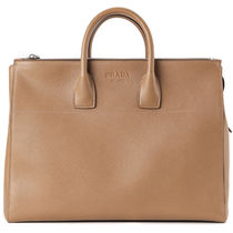 PRADA Caramel Tan Saffiano Leather Tote Bag
