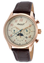 INGERSOLL Street Style Leather Round Mechanical Watch Elegant Style