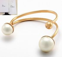 Christian Dior Costume Jewelry Party Style 18K Gold Bracelets