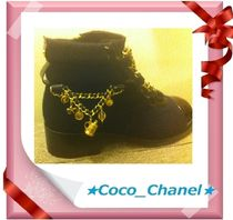 CHANEL Blended Fabrics Boots