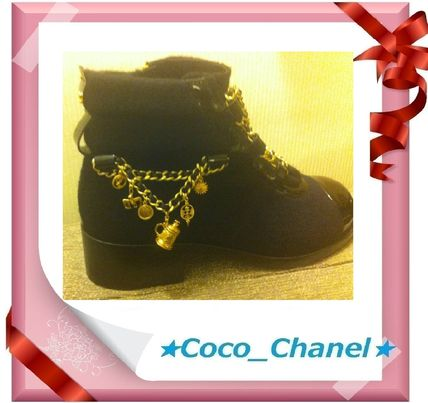 CHANEL More Boots Blended Fabrics Boots