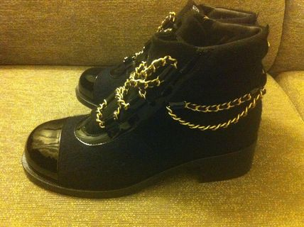 CHANEL More Boots Blended Fabrics Boots 2