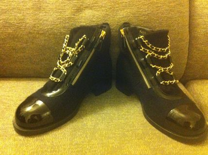 CHANEL More Boots Blended Fabrics Boots 3