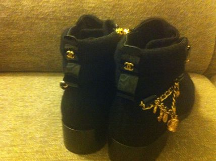 CHANEL More Boots Blended Fabrics Boots 5
