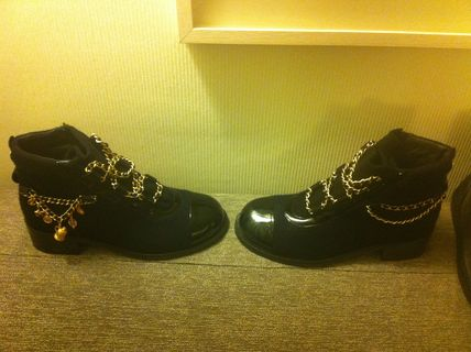 CHANEL More Boots Blended Fabrics Boots 7