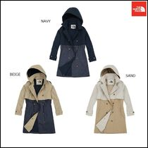 THE NORTH FACE Argile Wool Street Style Plain Long Trench Coats