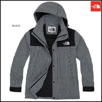 THE NORTH FACE Glen Patterns Zigzag Wool Street Style Long Parkas