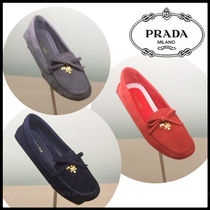 PRADA Suede Party Style Flats