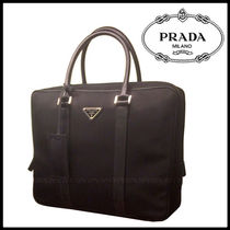 PRADA Nylon Street Style A4 Plain Business & Briefcases