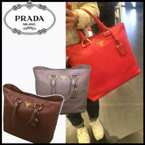PRADA A4 2WAY Leather Party Style Totes