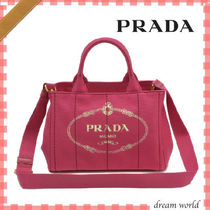 PRADA Canvas 2WAY Totes