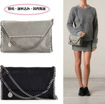Stella McCartney FALABELLA Faux Fur Plain Shoulder Bags