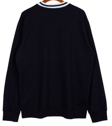 Long Sleeve Pullovers Street Style U-Neck Long Sleeves Cotton 5