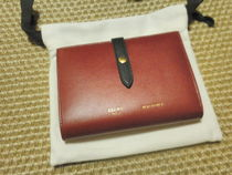 CELINE Strap Unisex Calfskin Bi-color Long Wallets