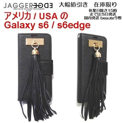 Unisex Tassel Plain Leather Handmade Smart Phone Cases