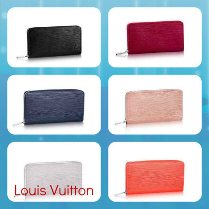 Louis Vuitton Long Wallets Unisex Plain Leather Long Wallets