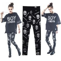 BOY LONDON Skull Studded Cotton Leggings Pants